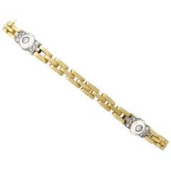 Vintage Diamond and Yellow Gold White Gold Set Bracelet
