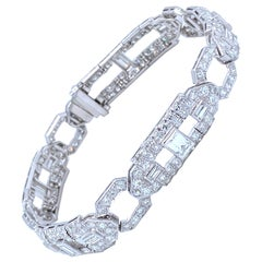 Vintage Diamonds Platinum Bracelet