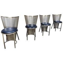 Vintage Dining Chairs by Frans Van Praet, Set of 4
