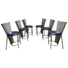 Vintage Esszimmerstühle von Frans Van Praet, Sechser-Set