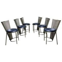 Vintage Dining Chairs by Frans Van Praet, Set of Six