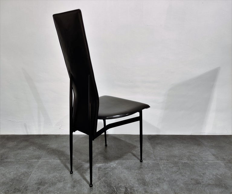 Late 20th Century Vintage Dining Chairs by Giancarlo Vegni for Fasem, Set of 6, 1980s