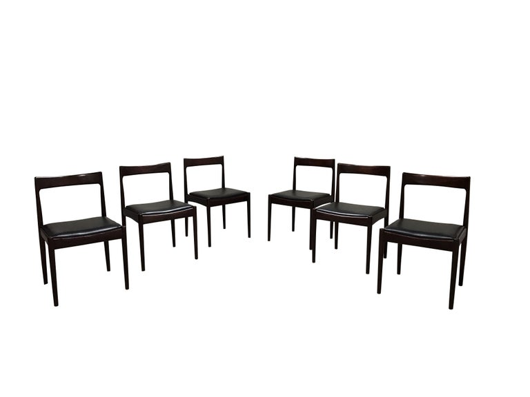 Vintage Dining Chairs by Oswald Vermaercke, Set of Six, 1960s 2