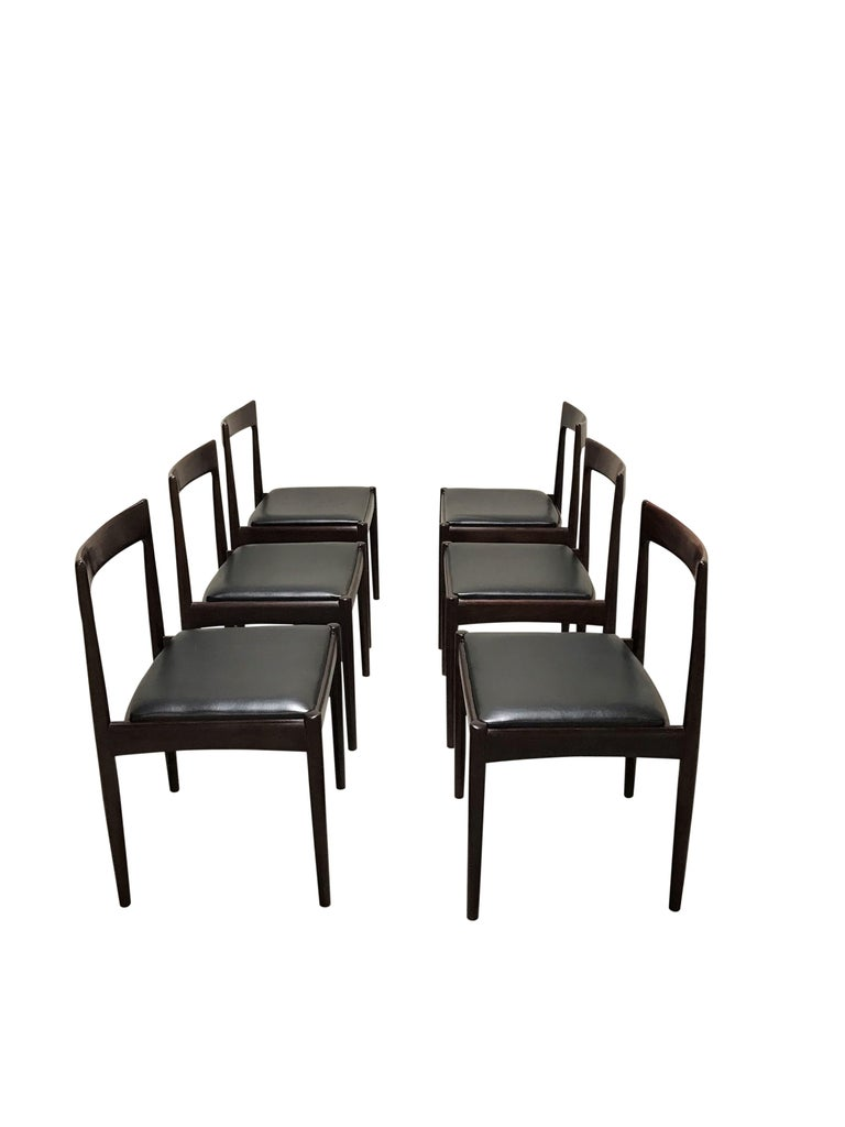 Vintage Dining Chairs by Oswald Vermaercke, Set of Six, 1960s 5
