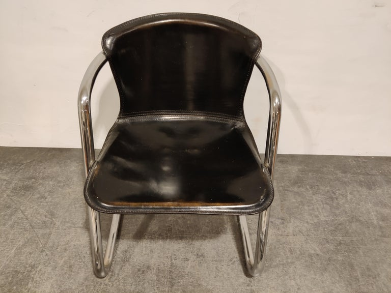 Vintage Dining Chairs by Willy Rizzo for Cidue Set of 4, 1970s For Sale 3