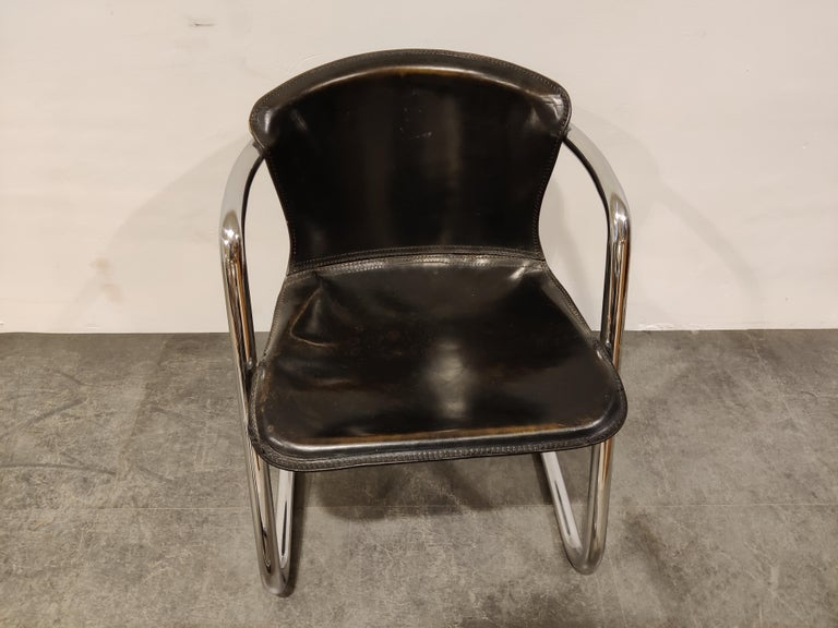 Vintage Dining Chairs by Willy Rizzo for Cidue Set of 4, 1970s For Sale 4