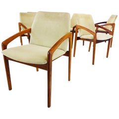 Vintage Dining Chairs, Danish Midcentury Kai Kristiansen Carver Dining Chairs