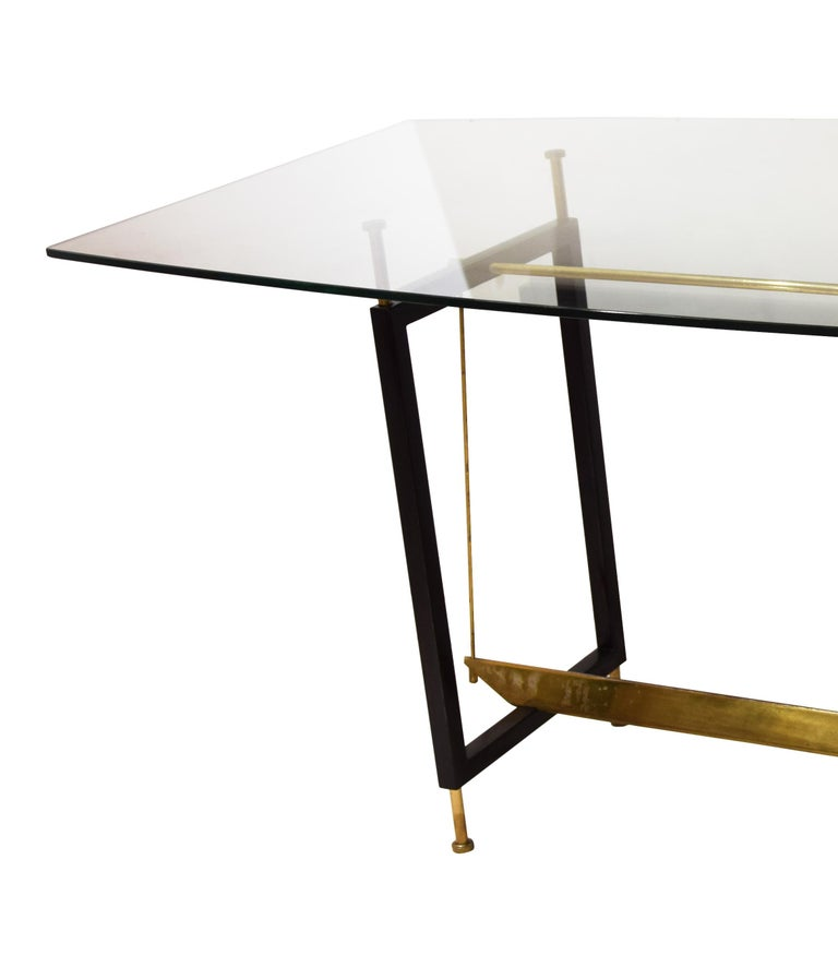 Vintage Dining Table by Leonardo Ricci, 1950s In Good Condition For Sale In London, GB