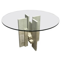 Vintage dining table by Willy Ballez, 1970s
