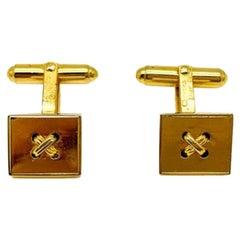 Vintage Dior Gold Knot Cufflinks 1980s
