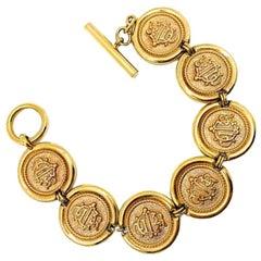 Vintage Dior Interlocked Monogram Bracelet 1980s