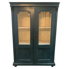 Vintage Display Cabinet with Glass Doors