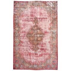 Vintage Distressed Kerman Rug