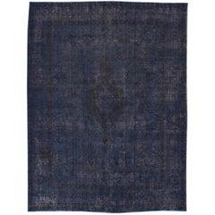 Vintage Distressed Overdyed Rug