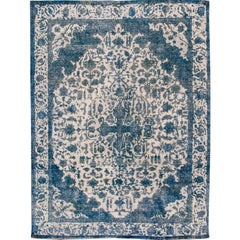 Vintage Distressed Overdyed Rug