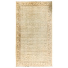 Vintage Distressed Persian Tabriz Rug Carpet, circa 1920