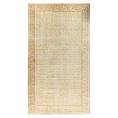 Vintage Distressed Persian Tabriz Rug Carpet, circa 1920  8'5 x 14'10