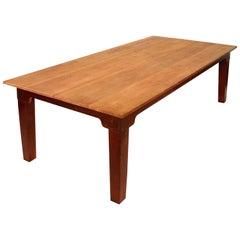 Vintage Distressed Pine Farm / Harvest Table for Dining