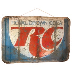 Vintage Distressed Royal Crown Cola Sign