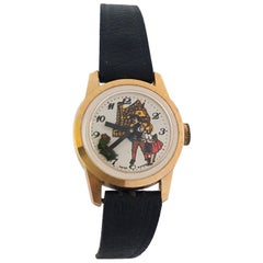 Vintage Dog Automation Swiss Mechanical Watch