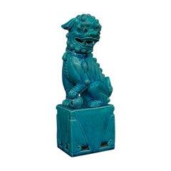 Vintage Dog Statue, Oriental, Ceramic, Dog of Fo, Ornament, Art Deco, circa 1950