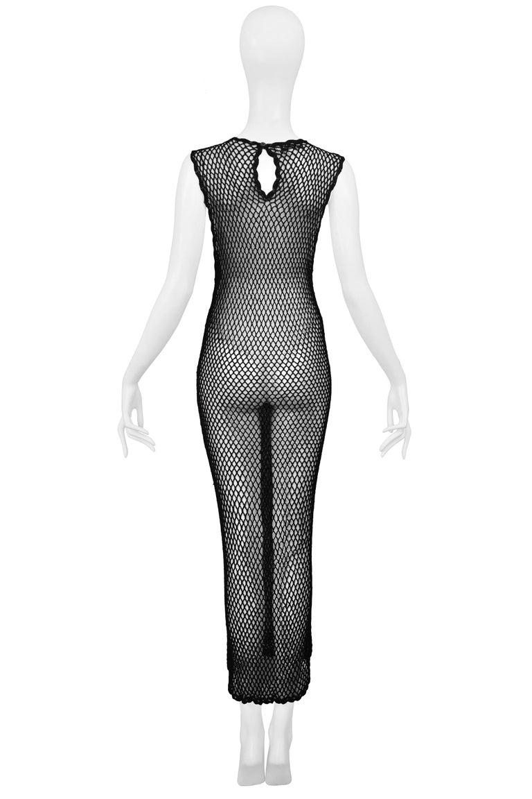 Women's Vintage Dolce & Gabbana 1995 Black Fishnet Dress