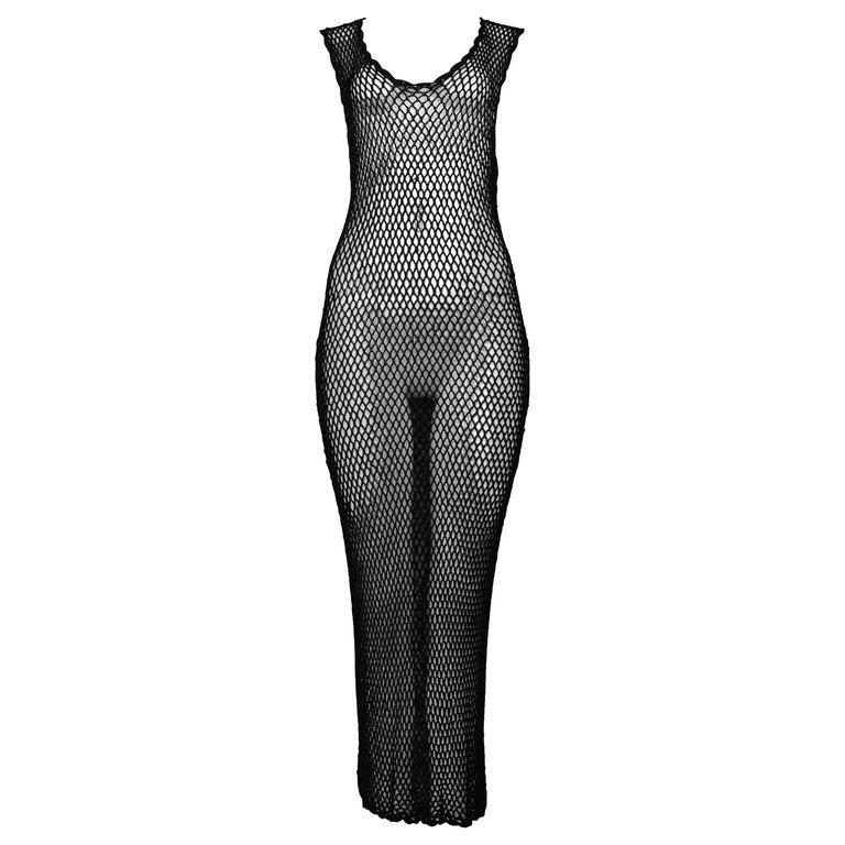 Vintage Dolce & Gabbana 1995 Black Fishnet Dress
