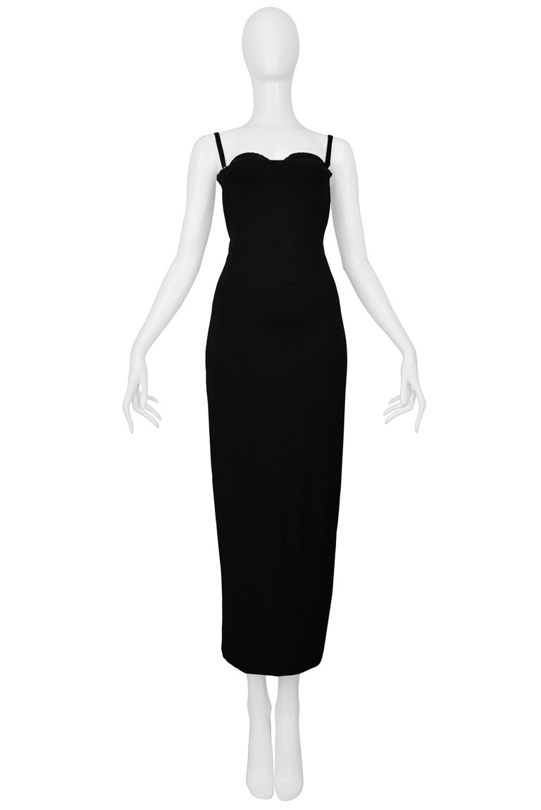Vintage Dolce & Gabbana Black Bondage 2001 Runway Dress In Excellent Condition For Sale In Los Angeles, CA