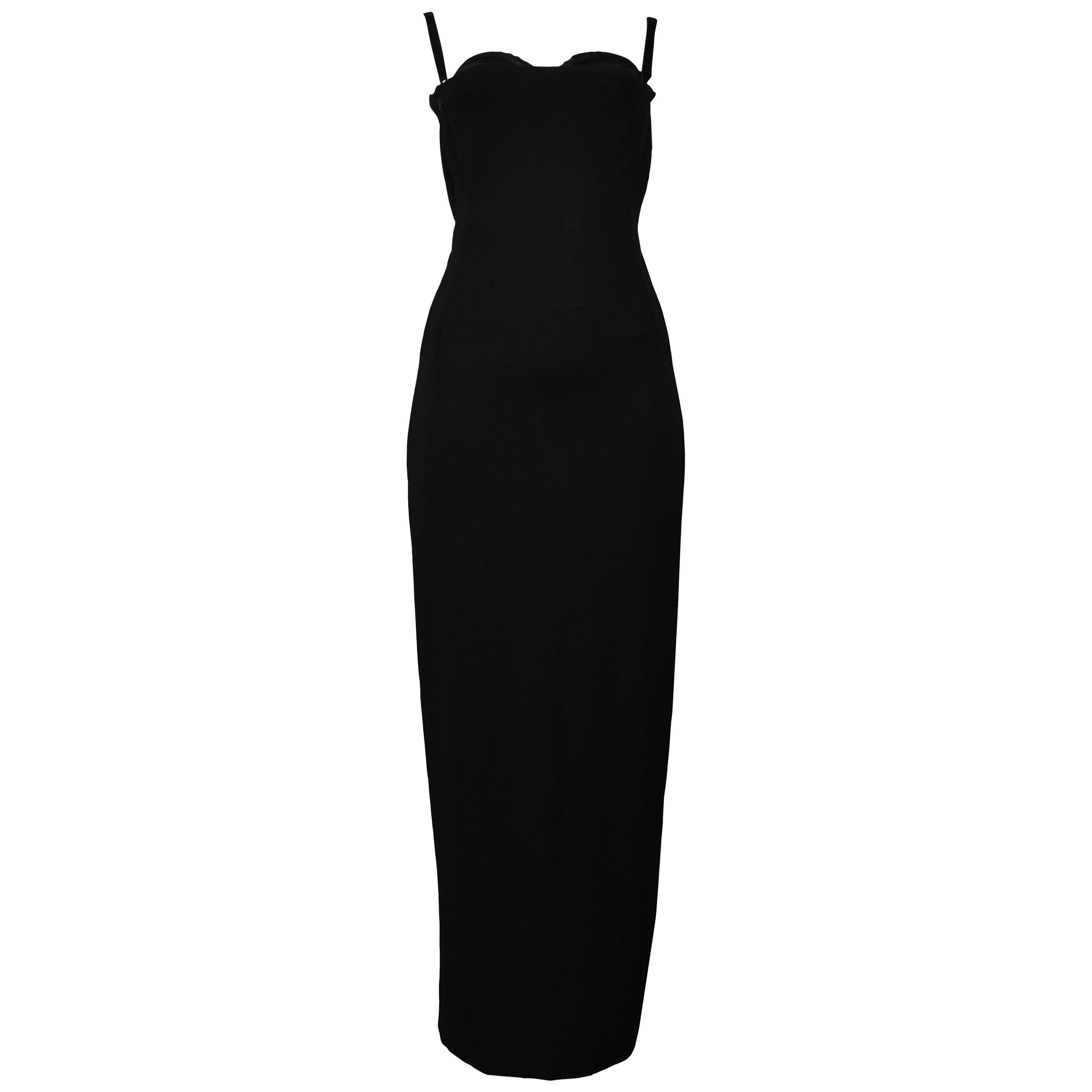 Vintage Dolce & Gabbana Black Bondage 2001 Runway Dress