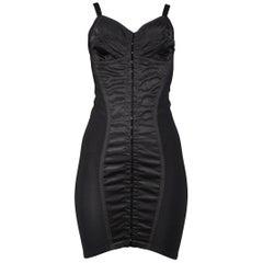Vintage Dolce & Gabbana Black Lingerie Bustier Dress 1992