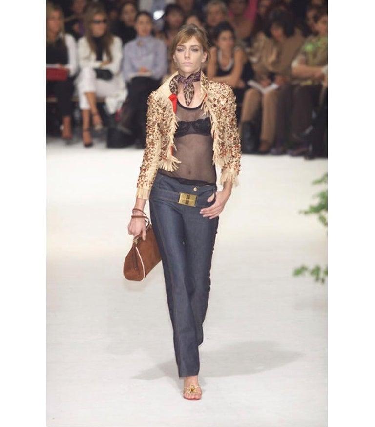 Black Vintage Dolce & Gabbana Denim Zip Front Jacket & pants Ensemble 2001 For Sale