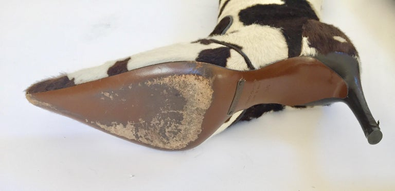 Vintage Dolce Gabbana Fitted Boots Animal Print For Sale 7
