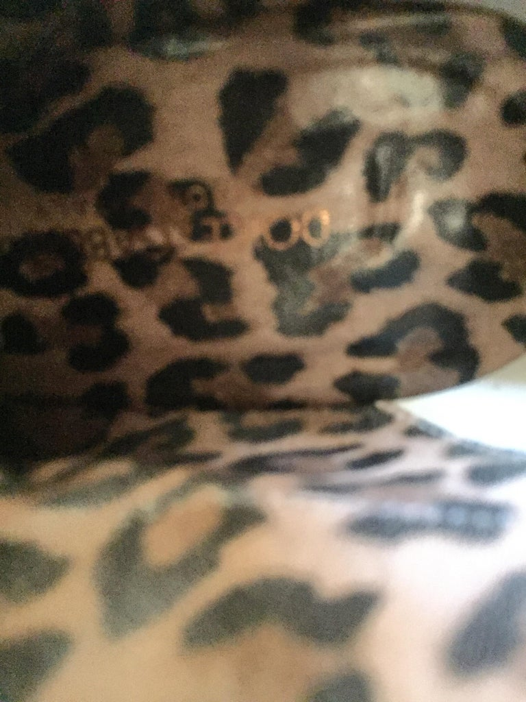 Vintage Dolce Gabbana Fitted Boots Animal Print For Sale 10