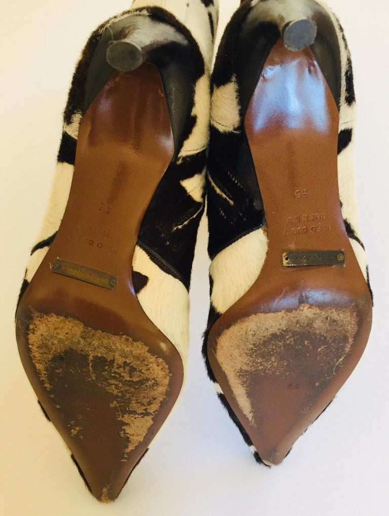 Vintage Dolce Gabbana Fitted Boots Animal Print For Sale 11