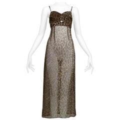 Vintage Dolce & Gabbana Iconic Leopard Slip Dress 1997