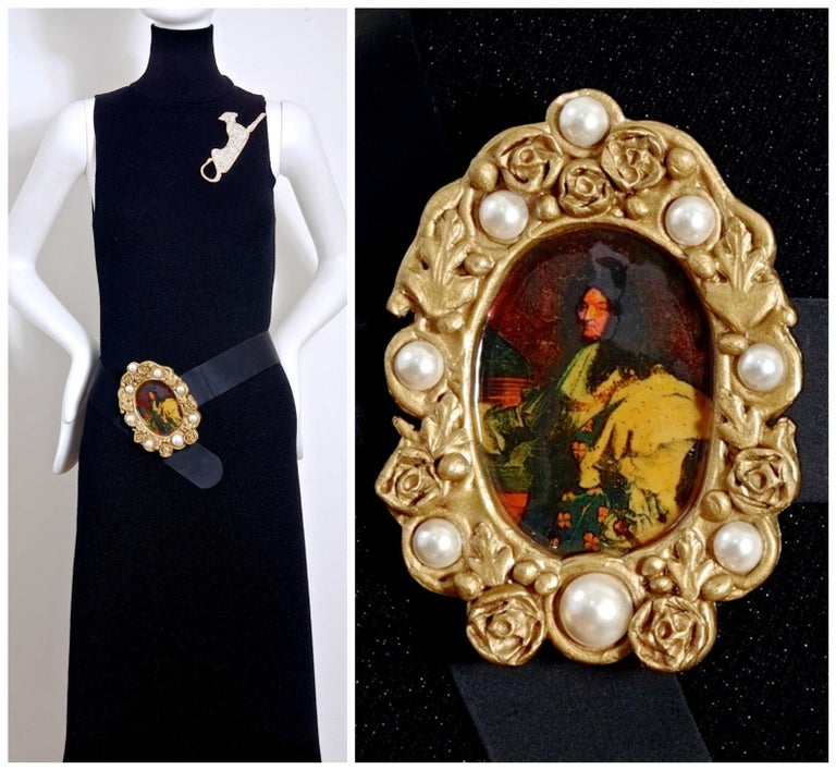 Vintage DOLCE & GABBANA King Louis XIV Frame Portrait Belt  Measurements: Buckle: 5 4/8 inches X 4 inches Height: 2 inches Wearable Length: 30 inches to 31 4/8 inches  Features: - 100% Authentic DOLCE & GABBANA . - Massive portrait of King LOUIS XIV