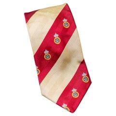 Vintage Domenico Basile all-silk striped tie