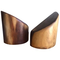 Vintage Don Shoemaker Rosewood Bookends, circa 1960s