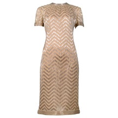 Vintage Donald Brooks Gold Beaded Dress 1960s