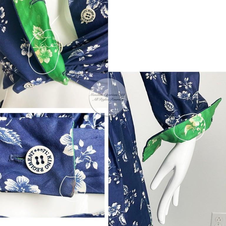 Vintage Donald Brooks Palazzo Pantsuit 2pc Set Jacket & Wide Leg Pant 70s S For Sale 4