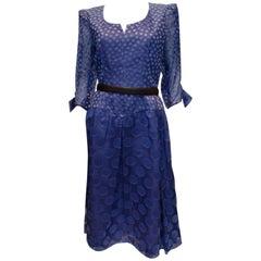 Vintage Donald Campbell Silk Spot Dress