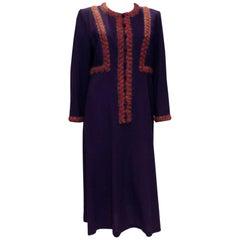 Vintage Donald Campbell Wool Crepe Dress