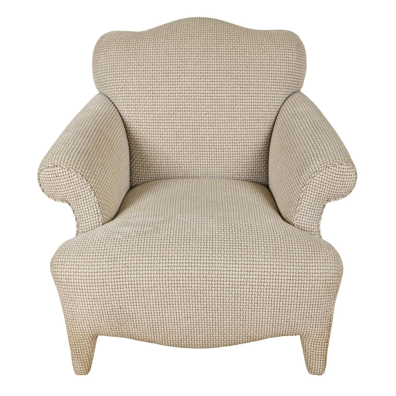 Vintage Donghia Style Upholstered Club Chair