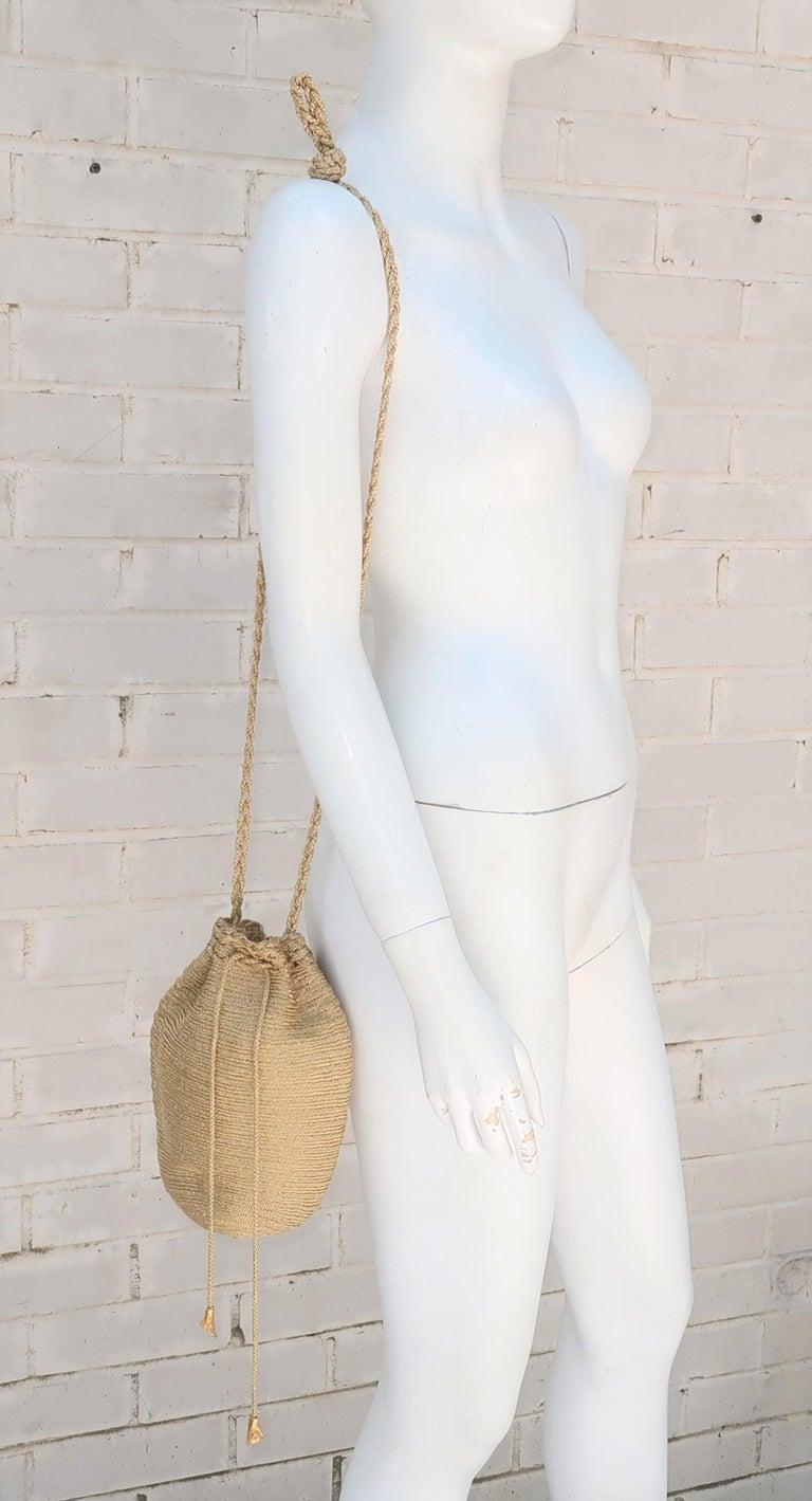 Vintage Donna Karan Gold Mesh Evening Handbag For Sale 6