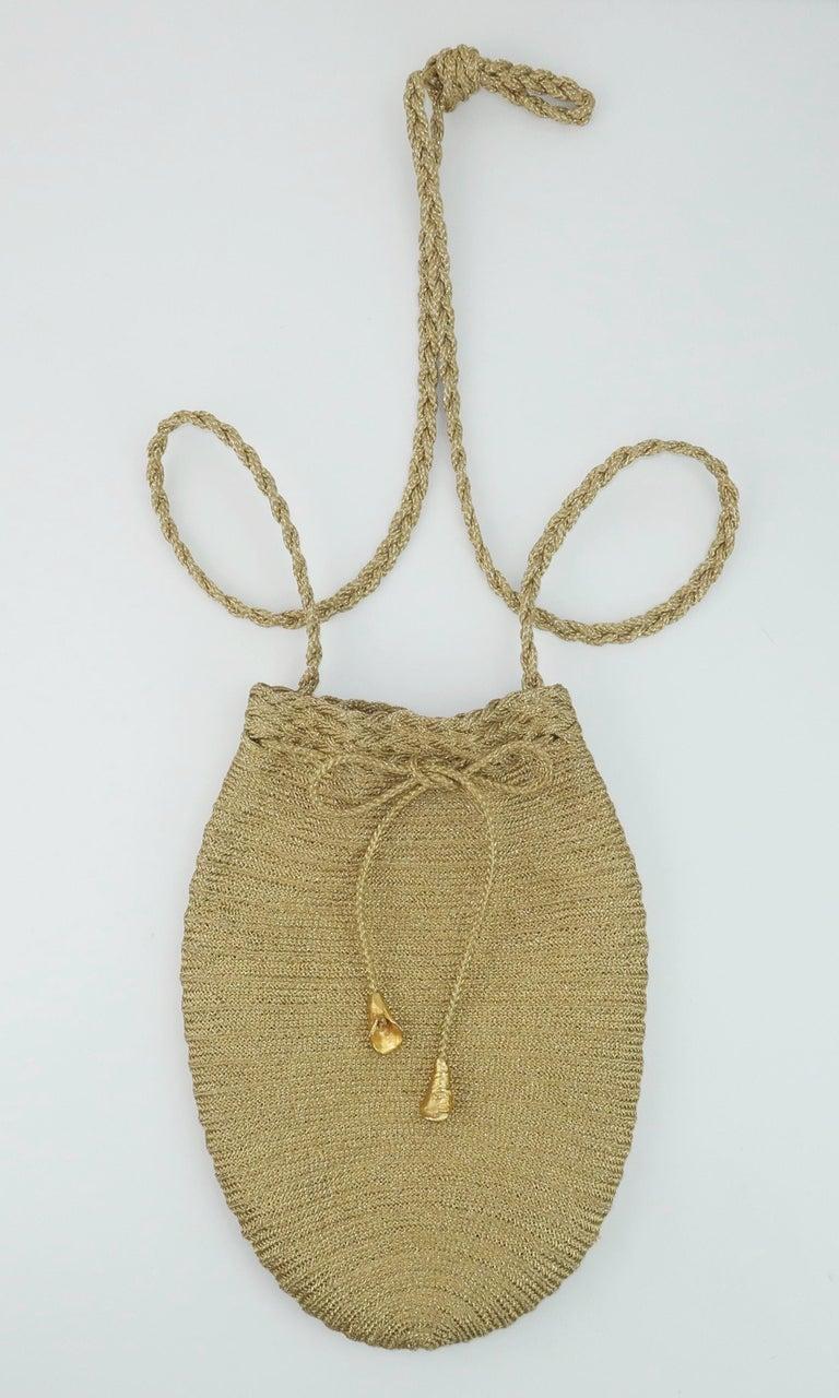 Vintage Donna Karan Gold Mesh Evening Handbag For Sale 7