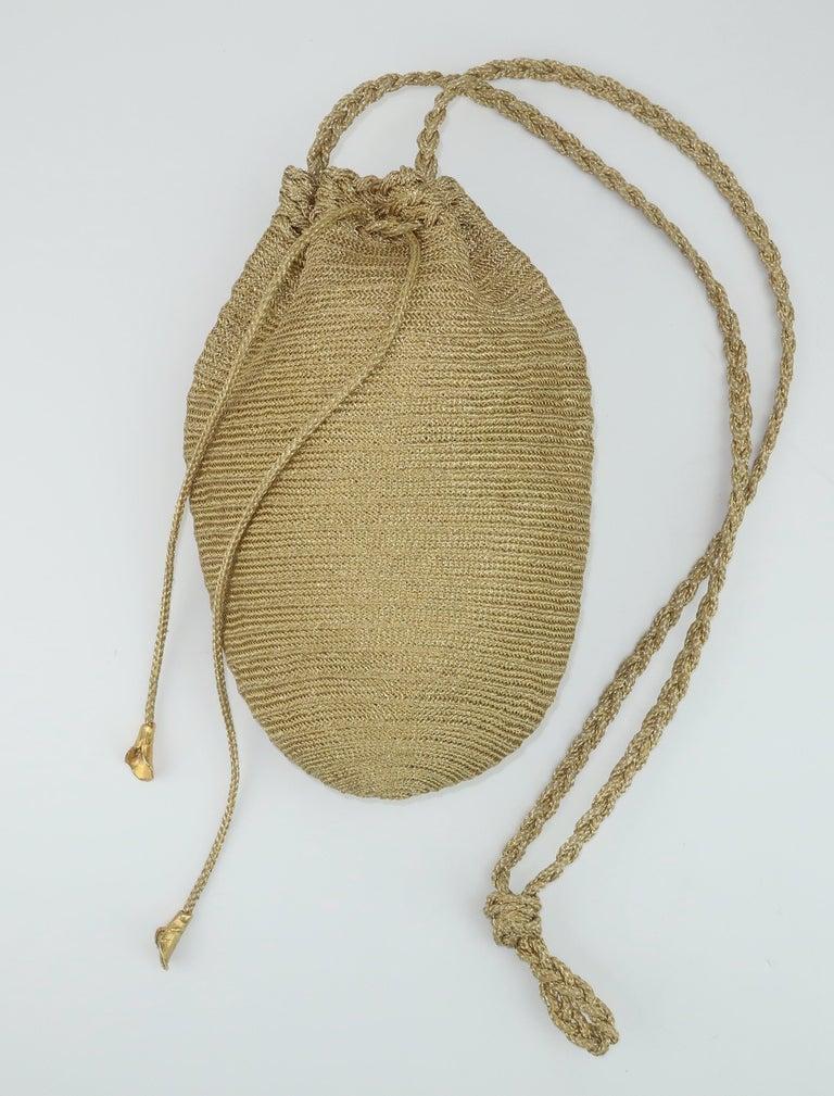 Women's Vintage Donna Karan Gold Mesh Evening Handbag For Sale