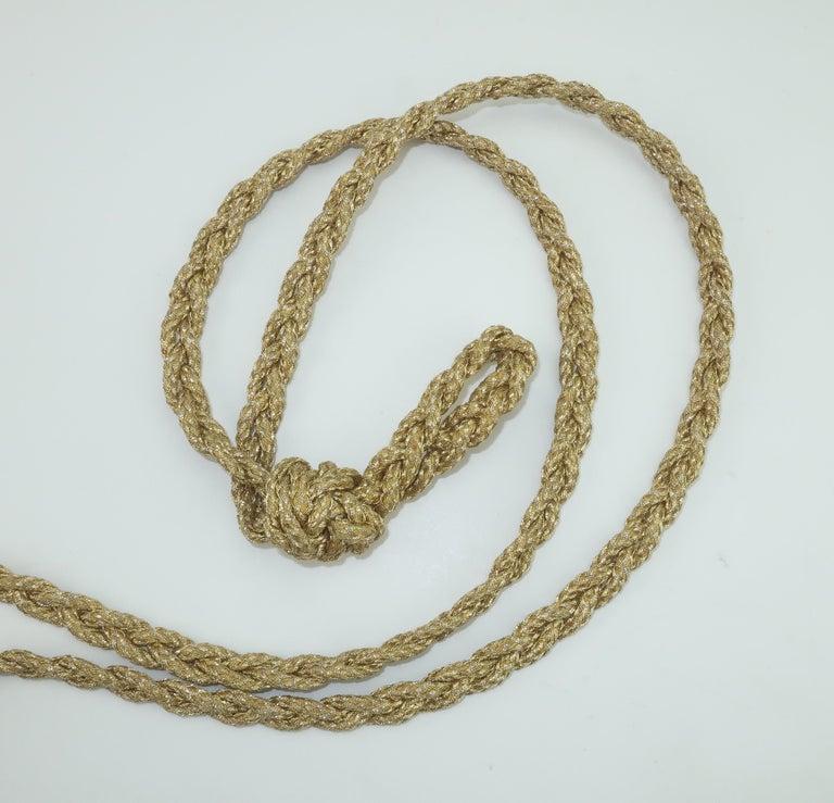 Vintage Donna Karan Gold Mesh Evening Handbag For Sale 3