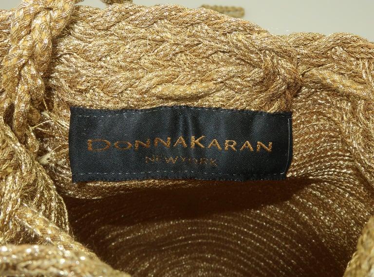 Vintage Donna Karan Gold Mesh Evening Handbag For Sale 5
