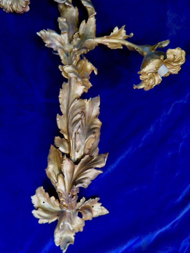 Gilt Vintage Doré Bronze Art Nouveau Sconces For Sale