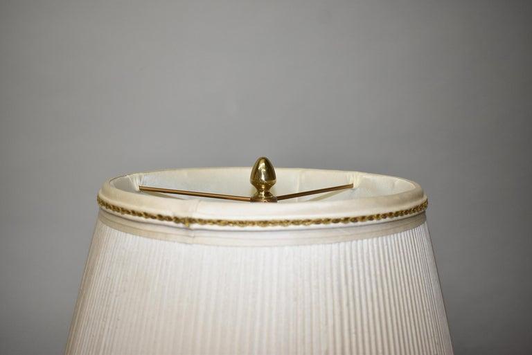 Vintage Dore Bronze Urn Lamp Bird Designs Lapis Set Stones Marbro Lamp Company For Sale 1